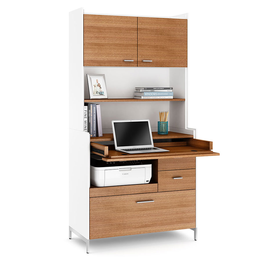 compact office. Aspect White Contemporary Compact Office N