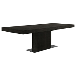Modloft Astor Gray Modern Extension Dining Table in Gray Oak