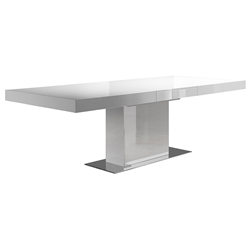 Modloft Astor Glossy White Modern Extension Dining Table