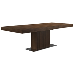 Modloft Astor Walnut Modern Extension Dining Table
