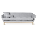 Gus* Modern Astrid Contemporary Sofa with Solid Ash Base and Bayview Silver Fabric Upholstery