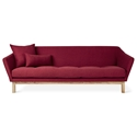 Gus* Modern Astrid Contemporary Sofa with Solid Ash Base and Stockholm Merlot Fabric Upholstery