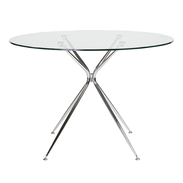 Atos 42 Inch Round Modern Glass Dining Table