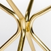 Atlanta 48 Inch Matte Gold Round Glass Dining Table - Base Detail