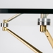 Atlanta 48 Inch Matte Gold Glass Dining Table - Glass Connectors