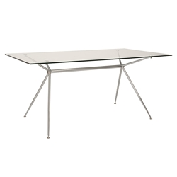 Atos 66 Inch Modern Glass Dining Table