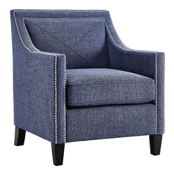 Atlanta Blue Linen Contemporary Chair