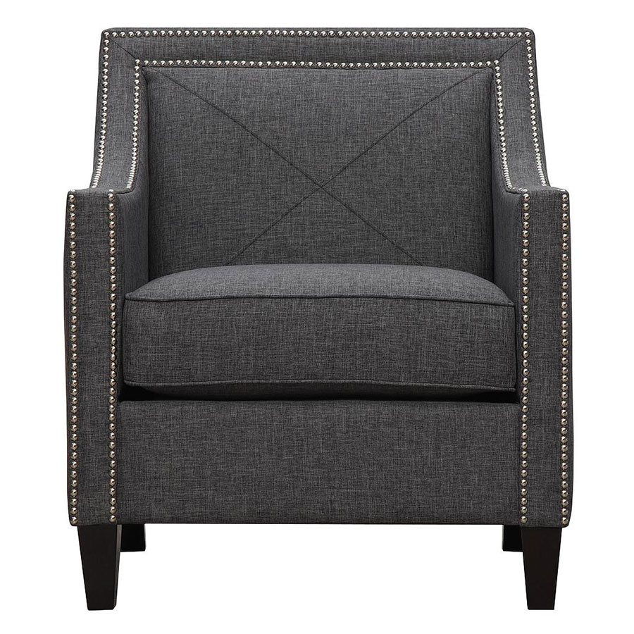 atlanta contemporary dark gray linen chair . atlanta contemporary dk gray chair  collectic home