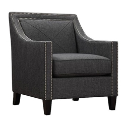 Atlanta Dark Gray Linen Contemporary Chair