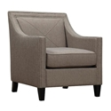 Atlanta Contemporary Light Gray Linen Chair