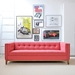 Atwood Contemporary Sofa in Berkeley Coral - Lifestyle