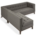 Gus* Modern Atwood Bi Sectional Sofa in Bayview Osprey Fabric Upholstery with Walnut Wood Base