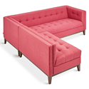 Gus* Modern Atwood Bi-Sectional Sofa in Berkeley Coral