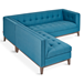 Gus* Modern Atwood Bi-Sectional Sofa in Muskoka Surf