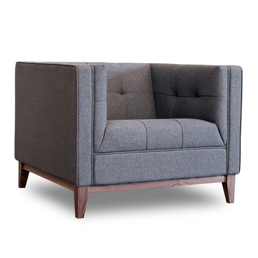 Atwood Contemporary Lounge Chair in Totem Storm