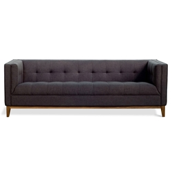 Atwood Contemporary Sofa in Urban Tweed Ink by Gus* Modern