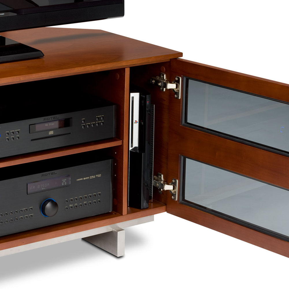 Avion small modern tv stand by bdi eurway furniture for Petite table tv