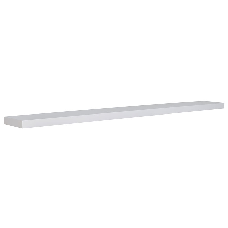 Bailey Modern 75 Inch White Wall Shelf