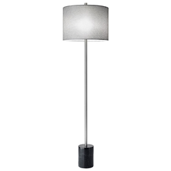 Ballard Contemporary Floor Lamp w/ Black Marble Base