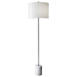 Ballard Contemporary Floor Lamp w/ White Marble Base