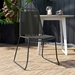 Modloft Barclay Light Gray Rope + Steel Modern Indoor + Outdoor Dining Chair - Lifestyle