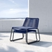 Modloft Barclay Blue Rope + Steel Modern Indoor + Outdoor Lounge Chair + Ottoman - Lifestyle, Stacked