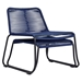 Modloft Barclay Blue Rope + Steel Modern Indoor + Outdoor Lounge Chair + Ottoman - Stacked