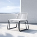 Modloft Barclay White Rope + Black Steel Modern Outdoor Lounge Chair + Ottoman - Lifestyle, Stacked