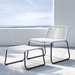 Modloft Barclay White Rope + Black Steel Modern Outdoor Lounge Chair + Ottoman - Lifestyle