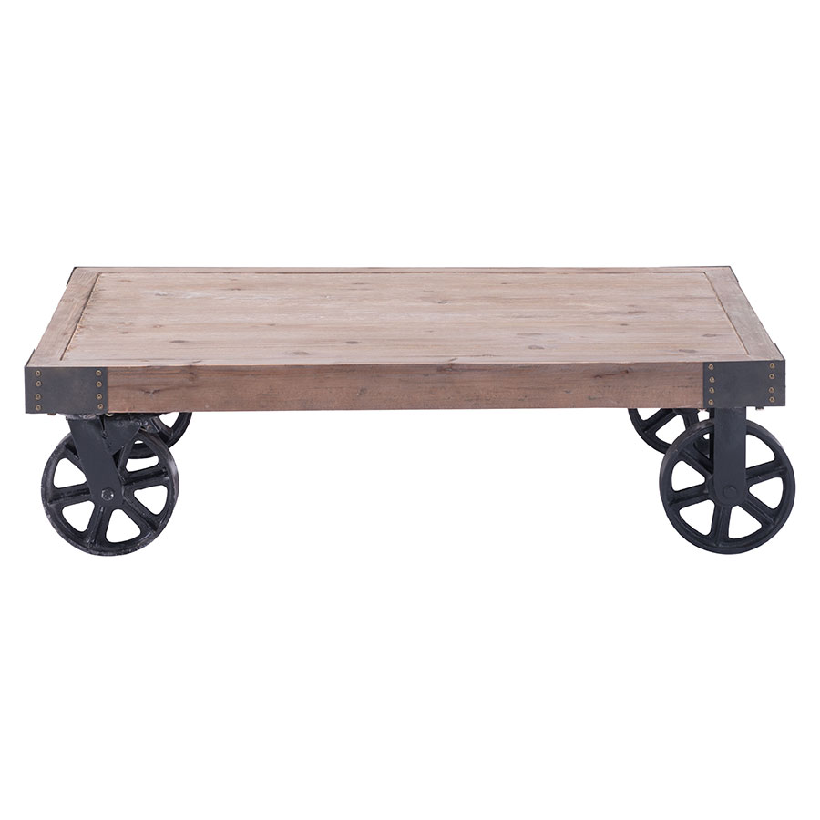 Barnaby Rolling Contemporary Coffee Table; Barnaby Rolling Modern  Industrial Coffee Table ... - Barnaby Rolling Modern Coffee Table Collectic Home