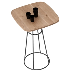 Barry Anthracite Modern Bar Table