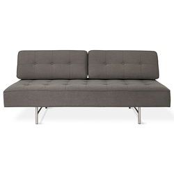 Gus* Modern Bedford Contemporary Sleeper Lounge in Berkeley Metro Upholstery with Brushed Stainless Steel Base