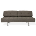 Gus* Modern Bedford Contemporary Sleeper Lounge in Totem Storm Fabric Upholstery with Brushed Steel Legs