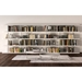 Modloft Beekman Glossy White + Clear Glass Modern Bookcase - Room Setting