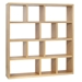 Berlin 4 Level 59 Inch Oak Contemporary Bookcase by TemaHome