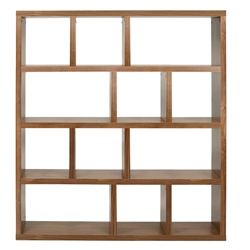 Berlin 4 Level 59 Inch Walnut Contemporary Bookcase