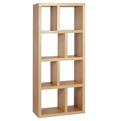 Berlin 4 Level 28 Inch Oak Contemporary Bookcase