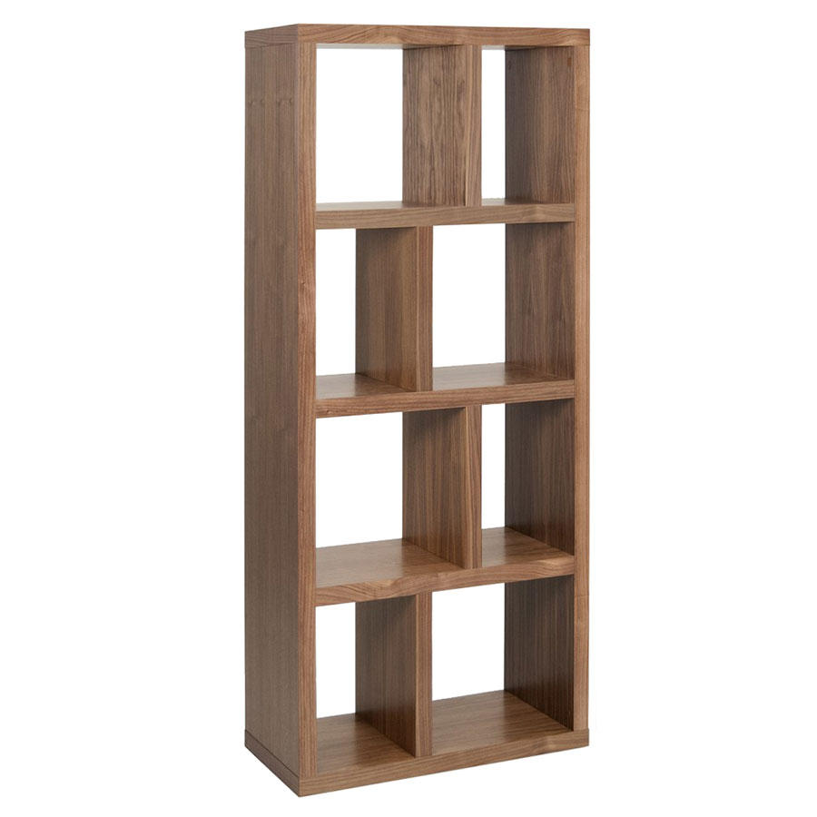 Berlin 4 Levels 70 CM Walnut Contemporary Bookcase by TemaHome