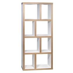 Berlin 4 Levels 70 CM Contemporary White + Ply Bookcase by TemaHome