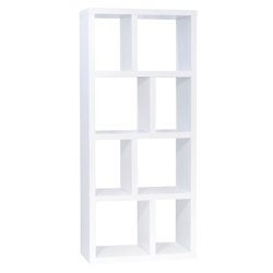Berlin 4 Level 28 Inch White Contemporary Bookcase Storage by TemaHome