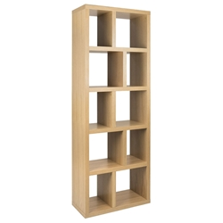 Berlin 5 Levels 28 Oak Contemporary Bookcase By TemaHome