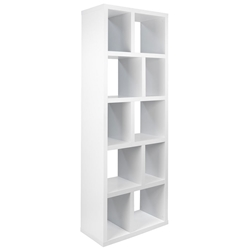 "Berlin 5 Levels 28"" White Contemporary Bookcase"