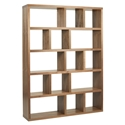 Berlin 5 Levels 150 CM Walnut Contemporary Bookcase by TemaHome