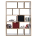Berlin 5 Levels 150 CM White + Ply Contemporary Bookcase Storage