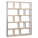 Berlin 5 Levels 150 CM White + Ply Contemporary Bookcase by TemaHome