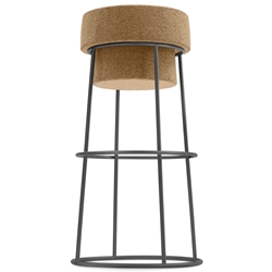 Beth Anthracite Modern Bar Stool by Domitalia