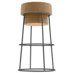 Beth Anthracite Modern Counter Stool by Domitalia