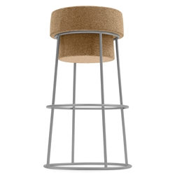 Beth Satin Modern Counter Stool by Domitalia