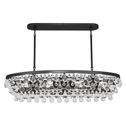 Bling Contemporary Oval Chandelier by Robert Abbey