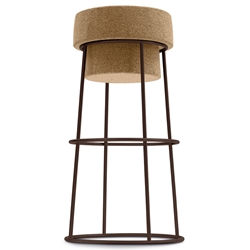 Bouchon-Sga Rust Modern Bar Stool by Domitalia